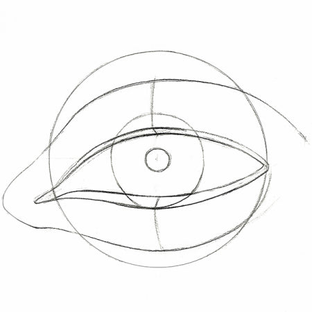 How to draw an eye - Step 2