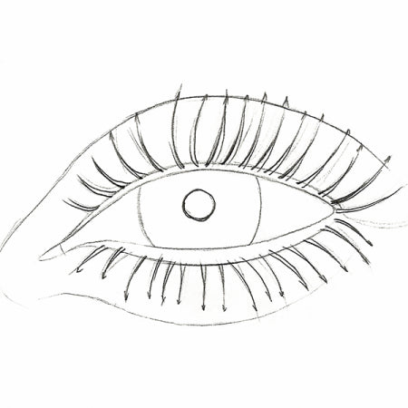 How to draw an eye - Step 3