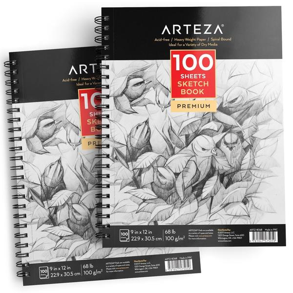 Arteza 100 sheets sketch book premium