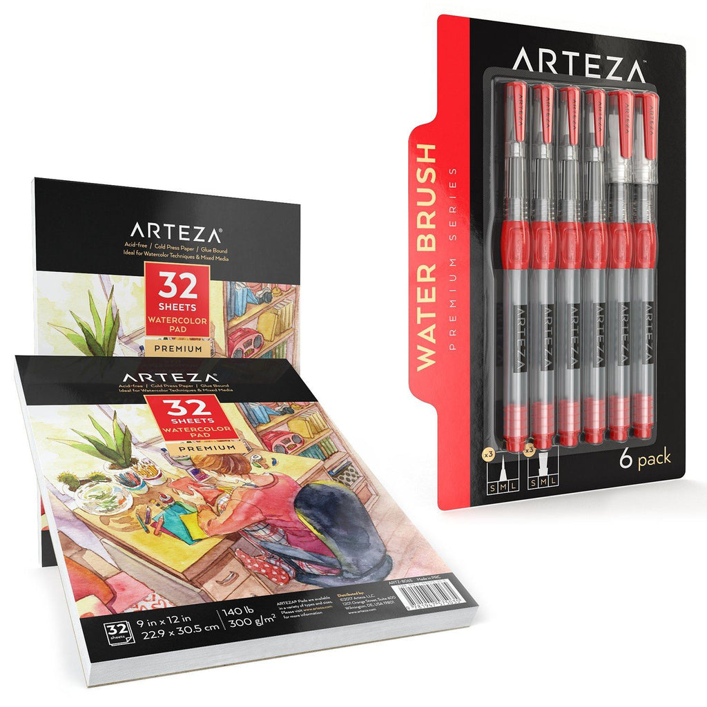 Watercolor Supply Bundle Watercolor Bundle Arteza