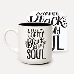 """Black like my soul"" mug"
