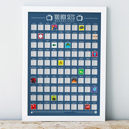 100 box sets scratch off poster