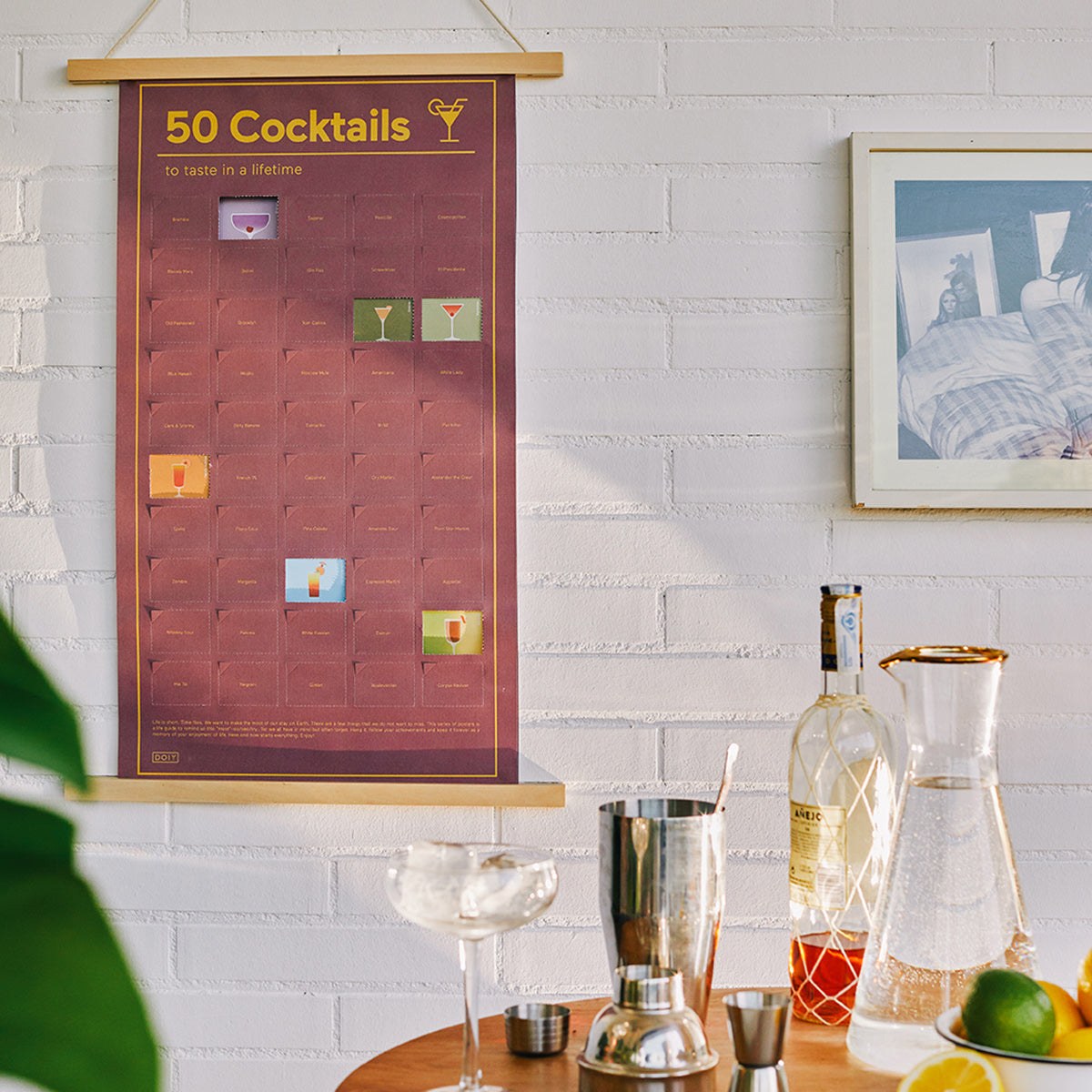 50 cocktails to taste in a lifetime poster