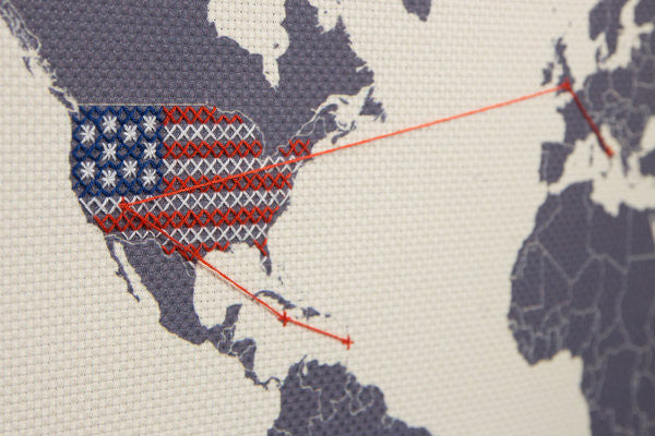 America Cross Stitch Map