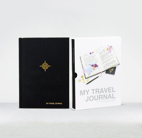 My travel journal black
