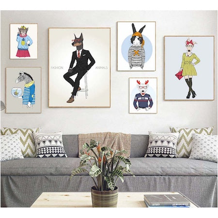 Animal canvas art print