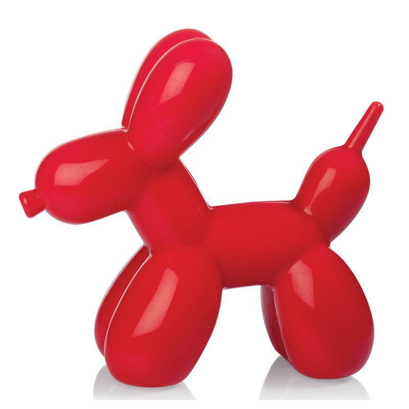 Red dog balloon light