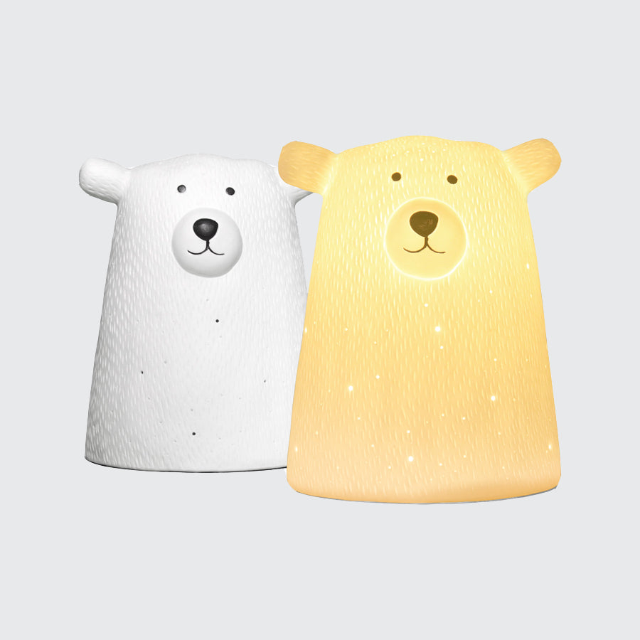 Bear ceramic lamp