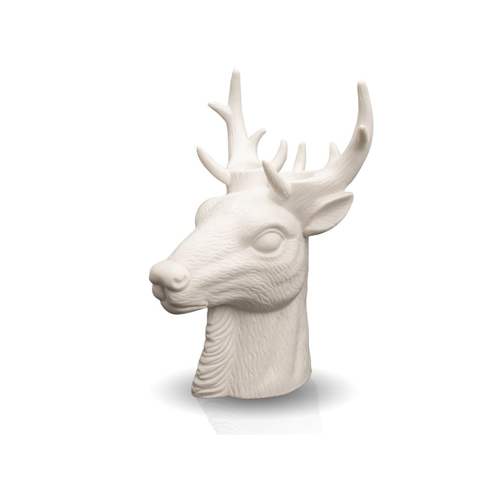 Deer candle holder ceramic