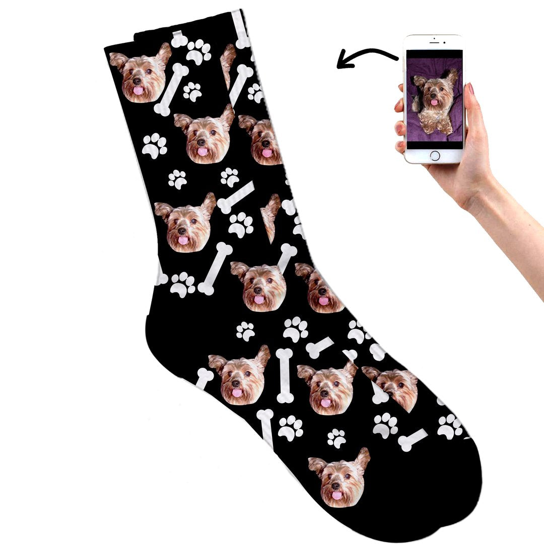Dog on socks Black