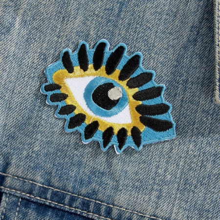 Evil eye iron patch
