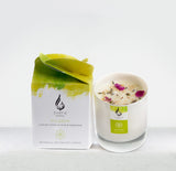 Glass Flower Soy Candle