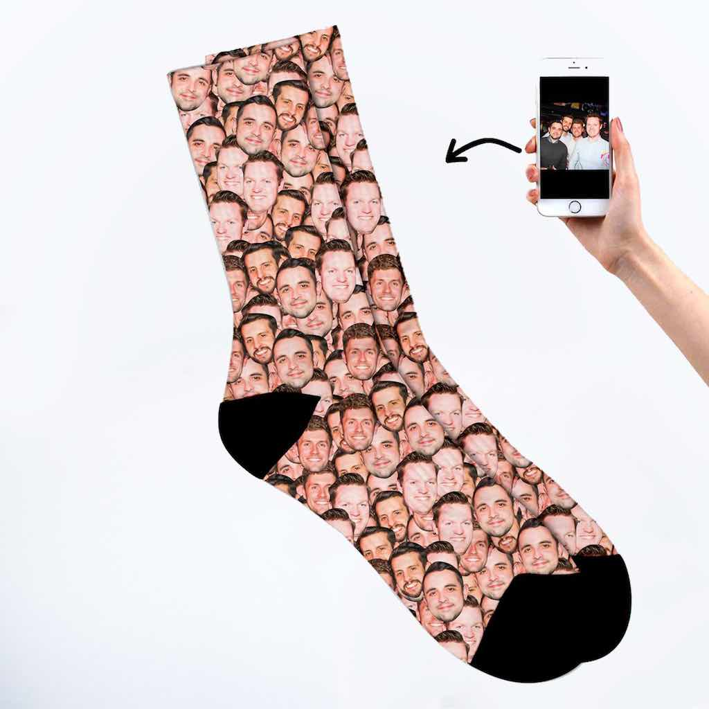 Friends face mash socks