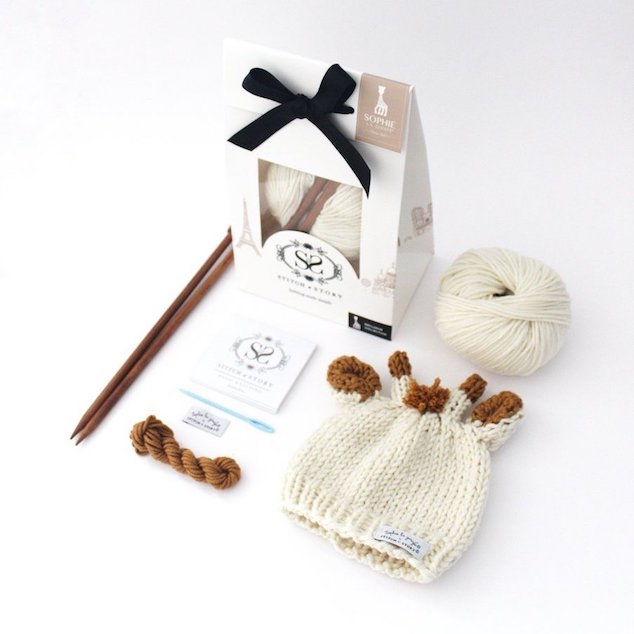 Girafe Hat Knitting Kit