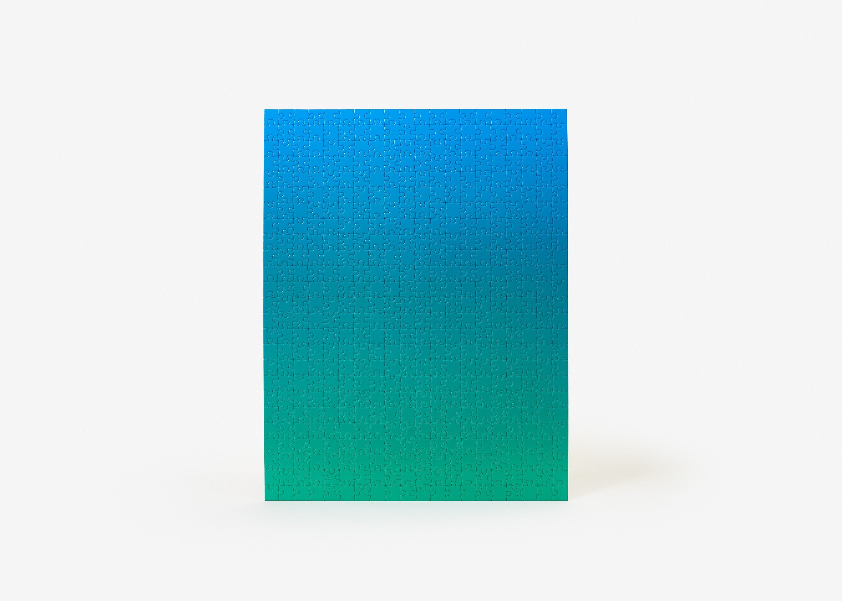 Gradient puzzle blue and green