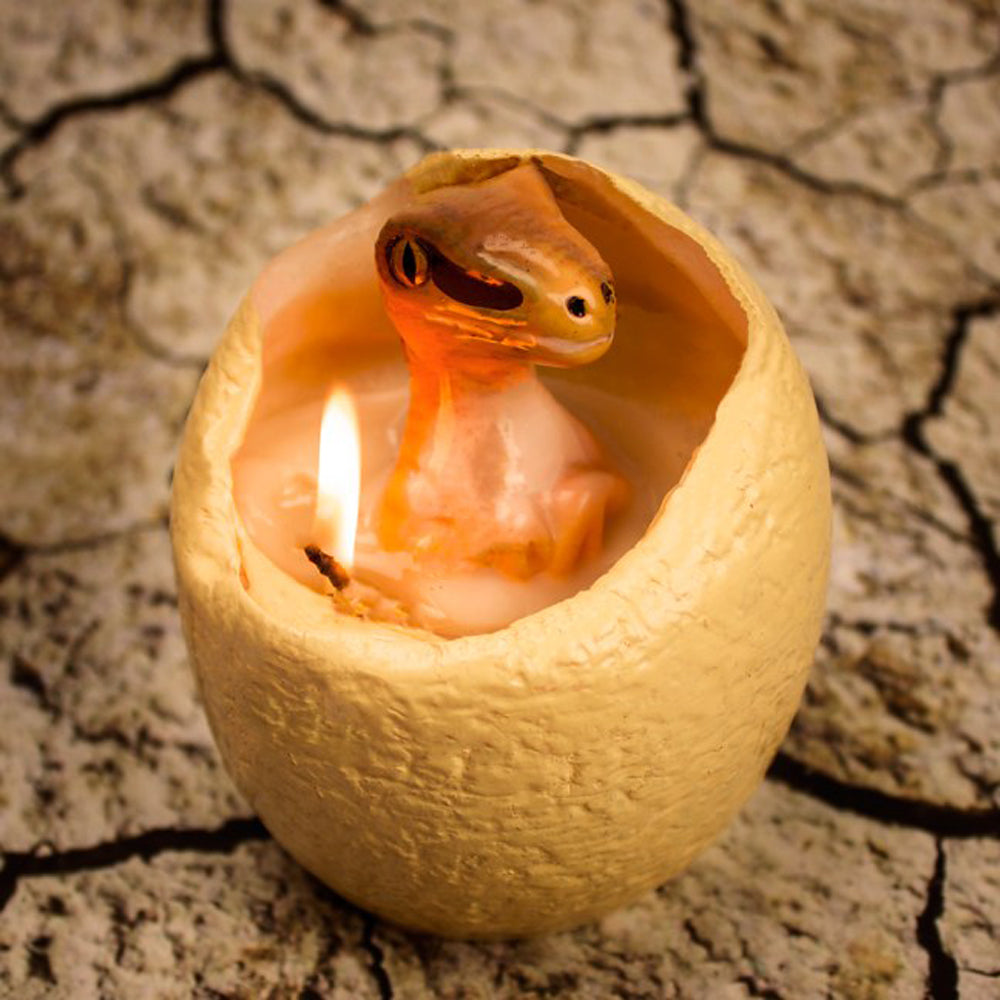 Hatching dino candle