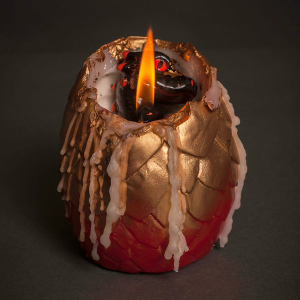 Hatching dragon egg candle