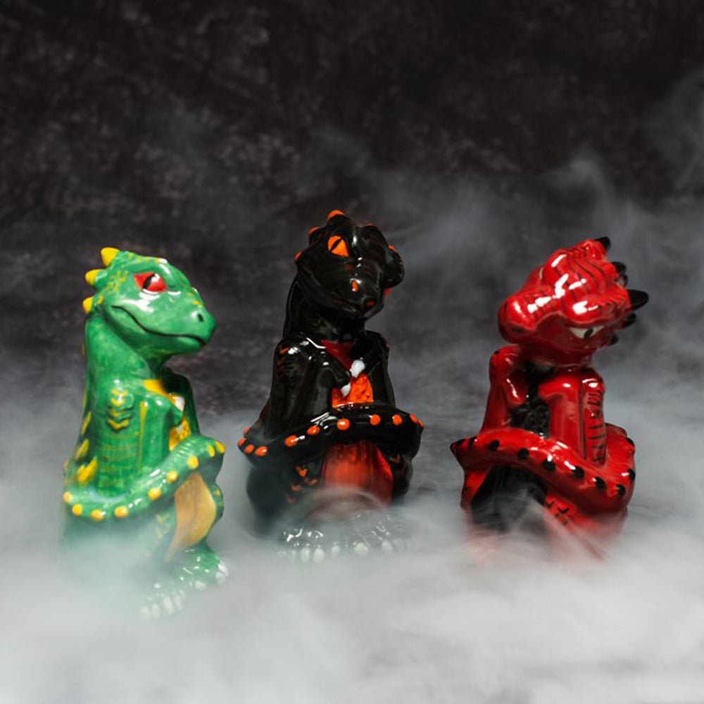 Hatching dragon egg figurines