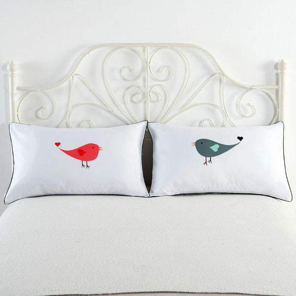 Love birds pillowcase set