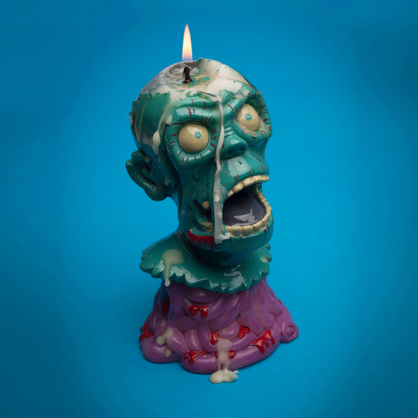 Melting zombie candle