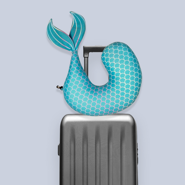 Mermaid travel pillow