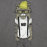 Cat grey organic cotton t-shirt