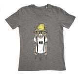 Cat human animal grey t-shirt