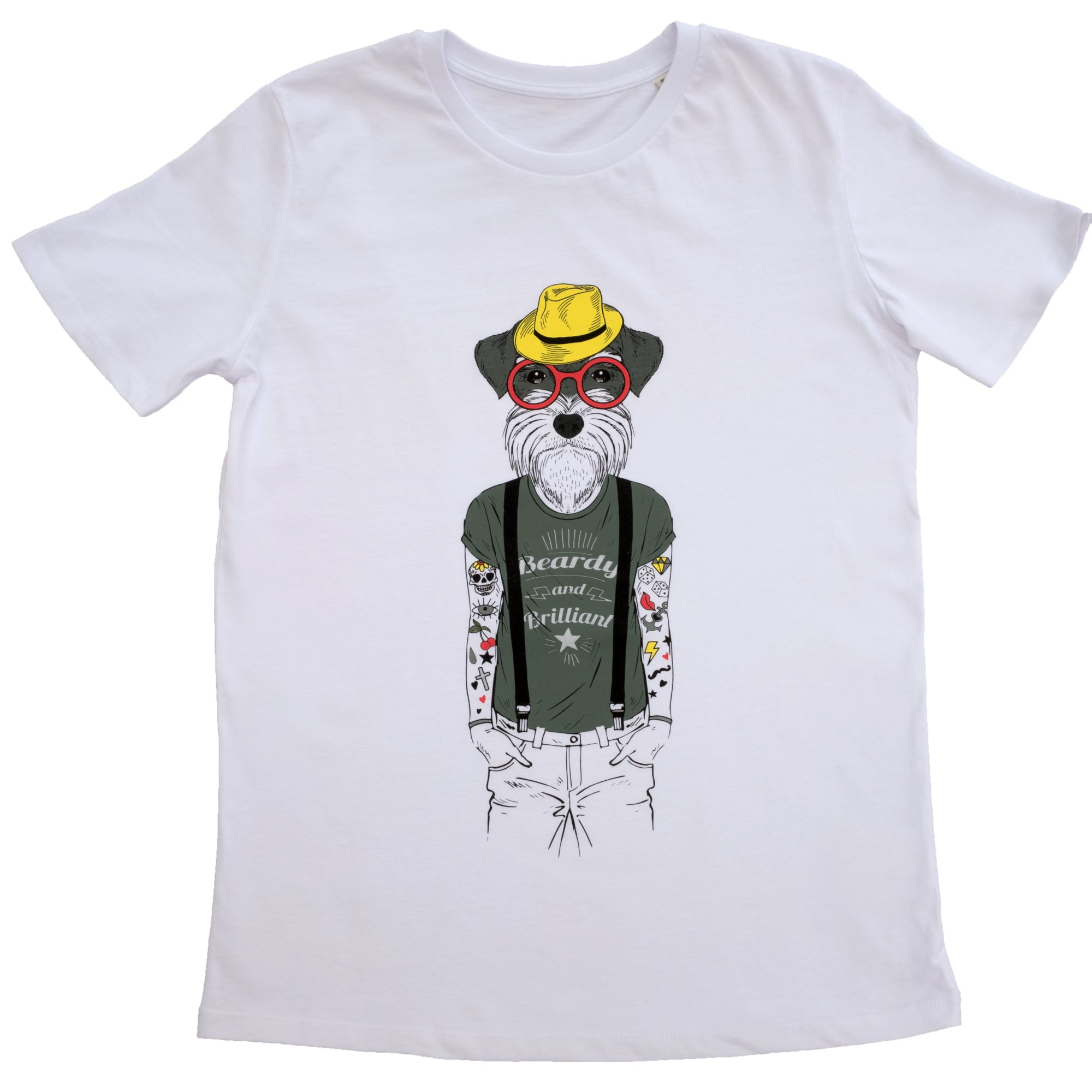 Dog human t-shirt white