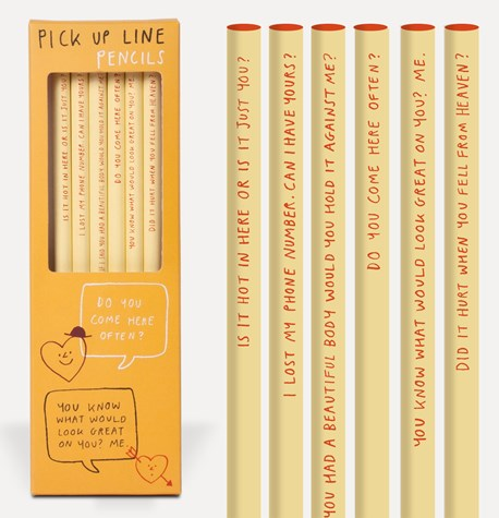 Pick up line pencils