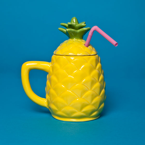 Pineapple tiki mug