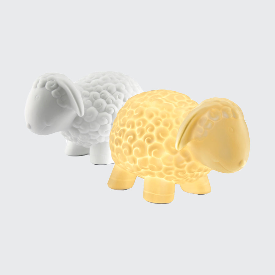 Sheep ceramic lamp