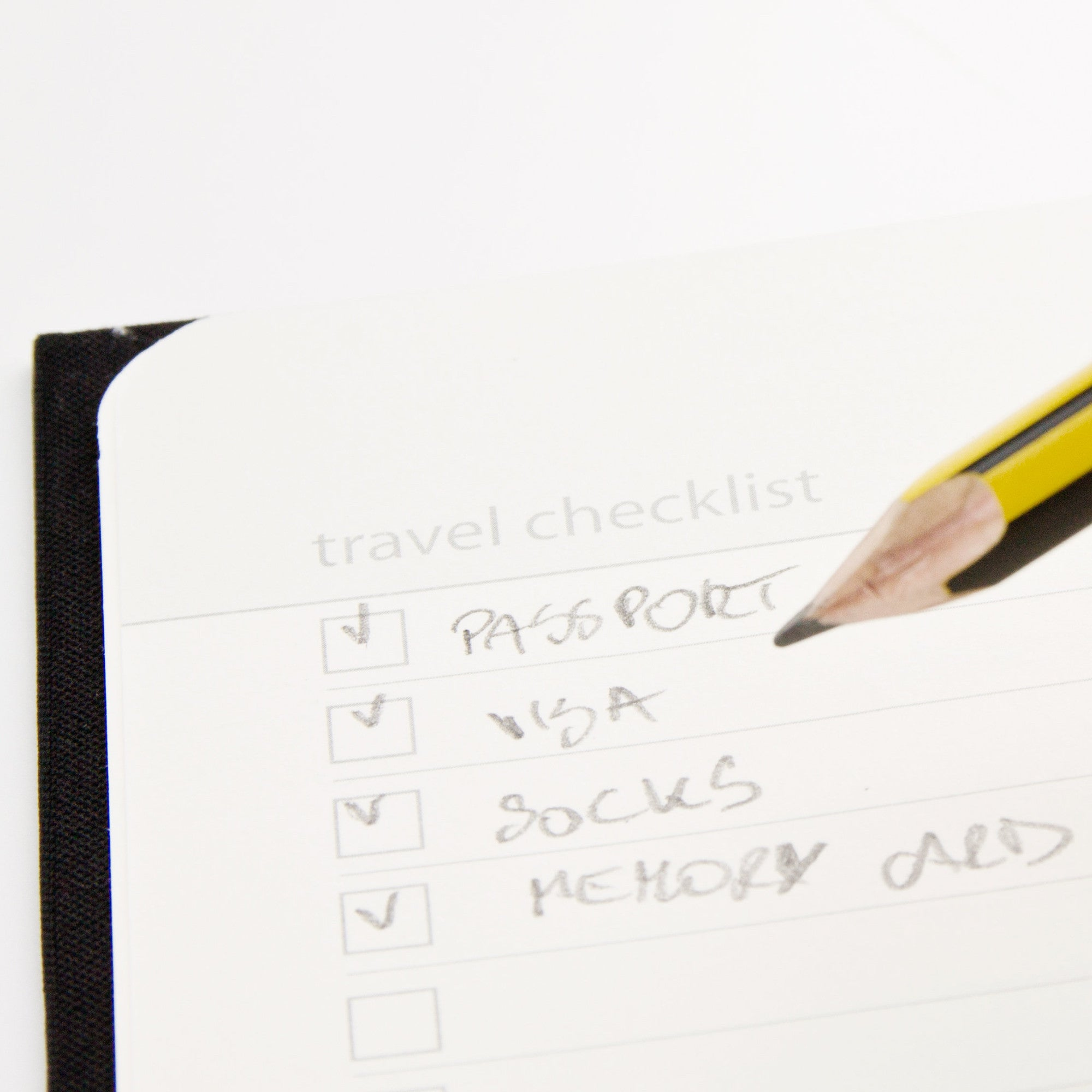 My travel journal checklist