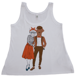 Couple vest white
