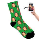 Face on socks green