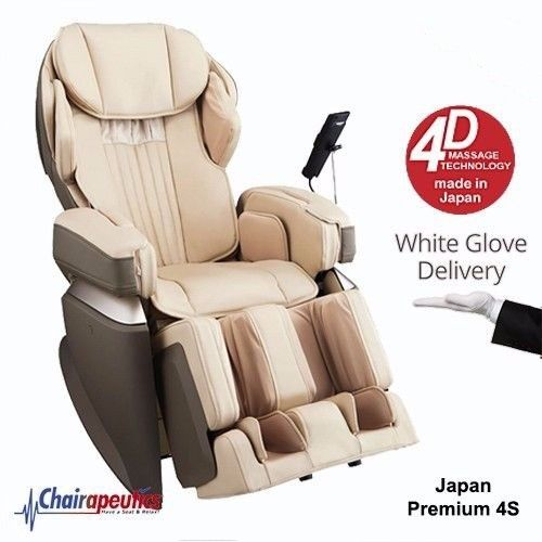 Osaki Cream OS-Pro Japan Premium 4S Massage Chair White Glove Delivery