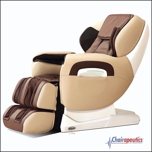 Titan TP-Pro 8400 Cream Zero Gravity L-Track Recliner Massage Chair