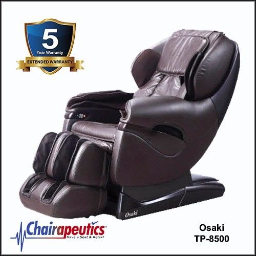 Brown Osaki TP-8500 L-Track Massage Chair 5 Year Extended Warranty