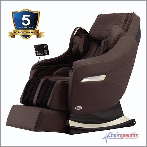Titan Executive Brown S-Track Zero-G Heated Massage Chair 5 Year Ext. Warranty