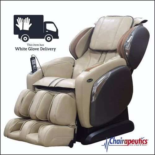 Osaki OS-4000CS Ivory Zero Gravity L-Track Massage Chair + White Glove Delivery