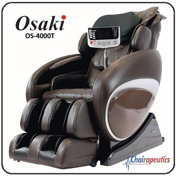 Brown Osaki OS-4000T Massage Chair Zero-G Foot Rollers S-Track Body Scan Heat