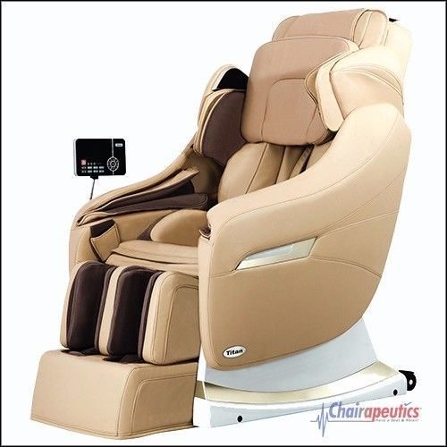 Titan Po Executive Cream S-Track Zero-G Heated Massage Chair Plus $1000 Rebate!