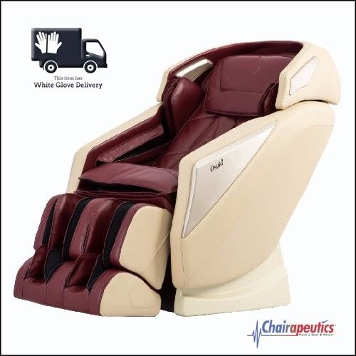 Osaki OS-Pro Omni Burgundy L-track Zero Gravity Massage Chair Heat White Glove