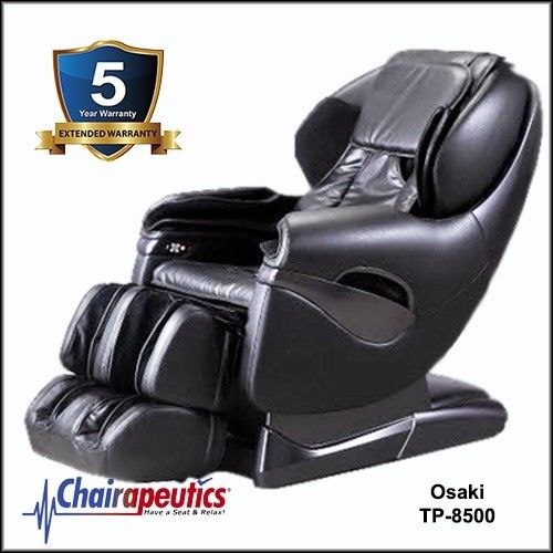 Black Osaki TP-8500 L-Track Massage Chair 5 Year Extended Warranty