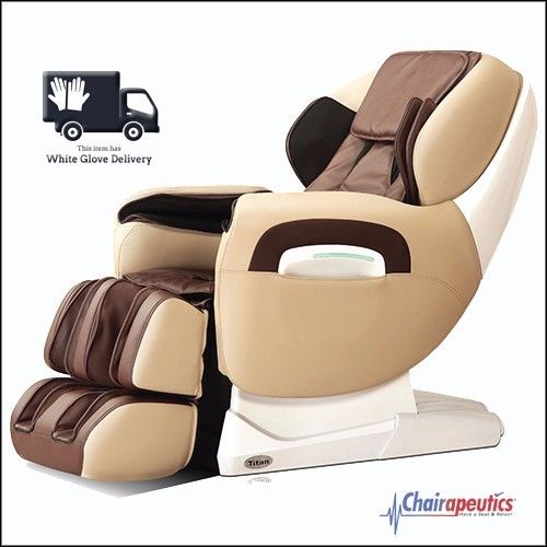 Titan TP-Pro 8400 Cream Zero Gravity L-Track Massage Chair White Glove Delivery