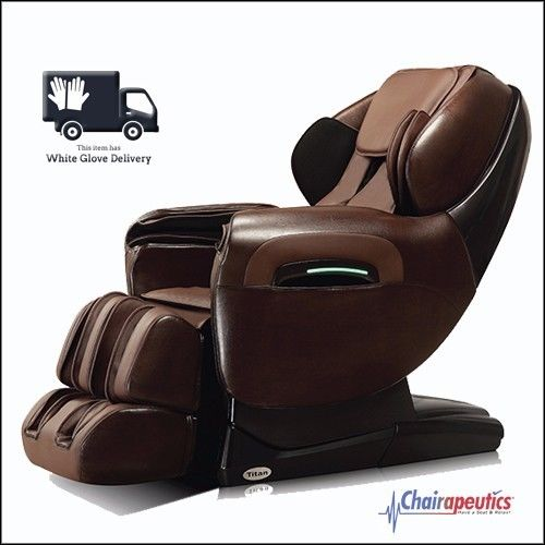 Titan TP-Pro 8400 Brown Zero Gravity L-Track Massage Chair White Glove Delivery