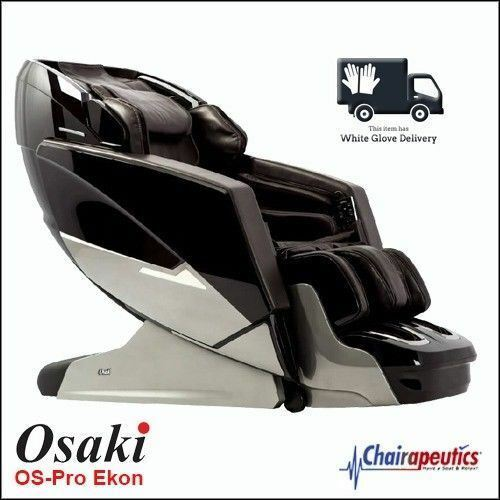 Osaki OS-Pro Ekon Black L-track Zero-G Heat Massage Chair White Glove Delivery