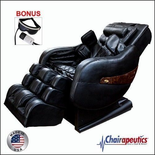 Black Luraco Legend PLUS L-Track Zero-G Massage Chair Bonus Eye Massager U.S.A.