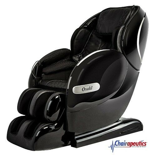 Black Osaki OS-Monarch L-Track Heat Therapy Bluetooth Zero-G 3D Massage Chair