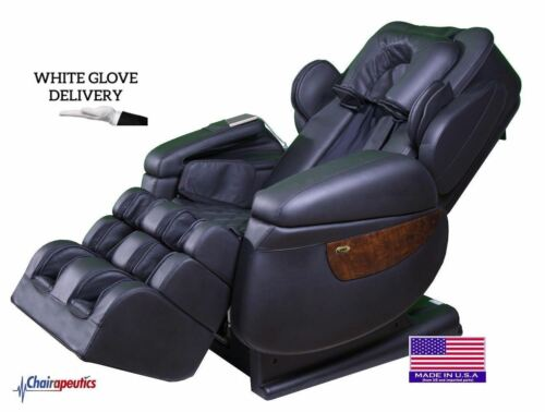 Luraco Black iRobotics i7 Plus 3D Zero-G Massage Chair White Glove 2X Bonuses