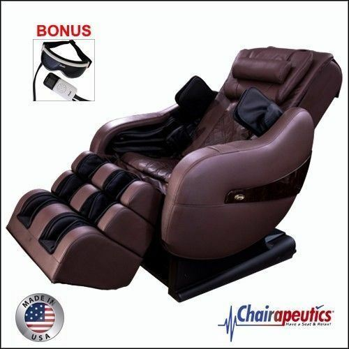Brown Luraco Legend PLUS L-Track Zero-G Massage Chair Bonus Eye Massager U.S.A.